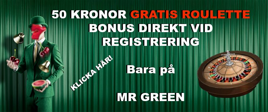roulette bonus på mr green
