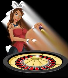 roulette hjul med dealer